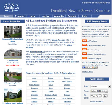 A B & A Matthews Estate Agents and Solicitors, Dumfries and Galloway Scotland