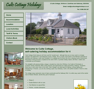 Cults Cottage Holidays Website