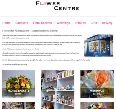 The Flower Centre is a long established florist shop based in Newton Stewart town centre we are committed to provide high quality fresh cut flowers and strong customer care.