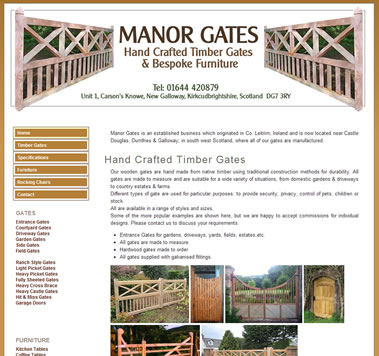 Manor Gates Website - Hand Crafted Timber Gates