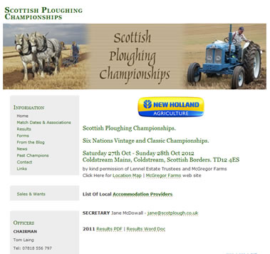 Scottish Ploughing Championships Website