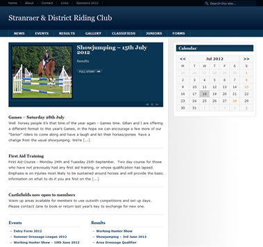 Stranraer Horse Riding Club, south west Scotland